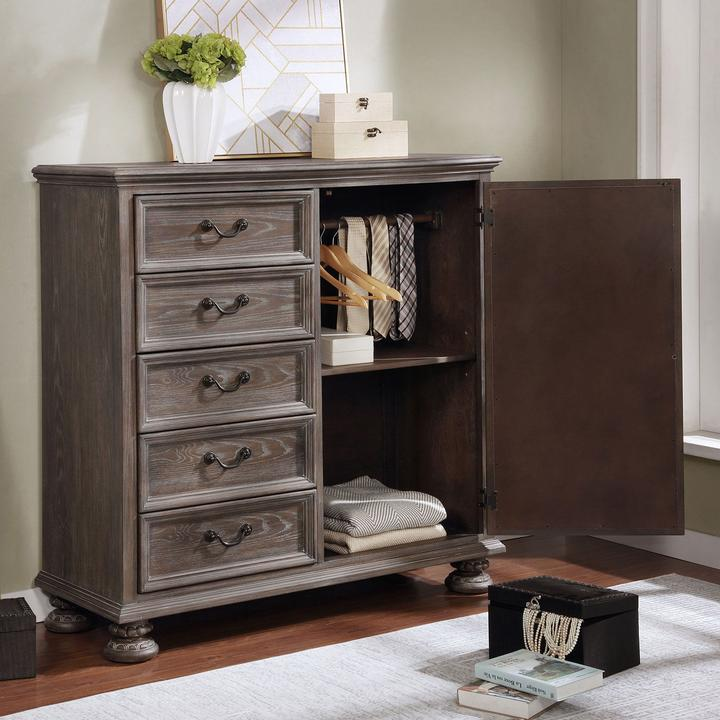 Lysandra Transitional Style Armoire - KTL Furniture