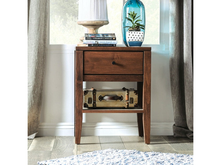 Clamette 1 Drawer Espresso Nightstand