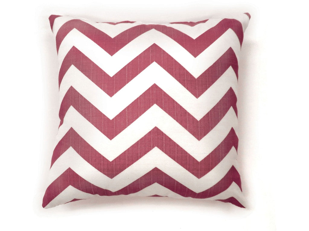 Zoe Red Chevron Polyester Pillow (2/CTN)