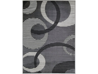 Blitar Dark Gray Polypropylene Rug - KTL Furniture
