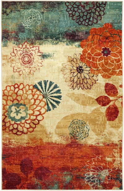 Greenville Floral Nylon Rug - KTL Furniture