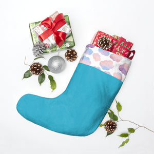 Blue White Cloud Stocking Personalized Christmas Stockings