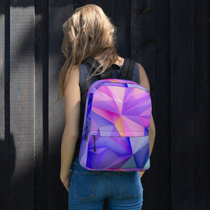 Abstract Colorful bag Pink and Blue Backpack