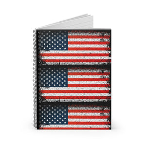 American Flag USA Spiral Notebook - Ruled Line