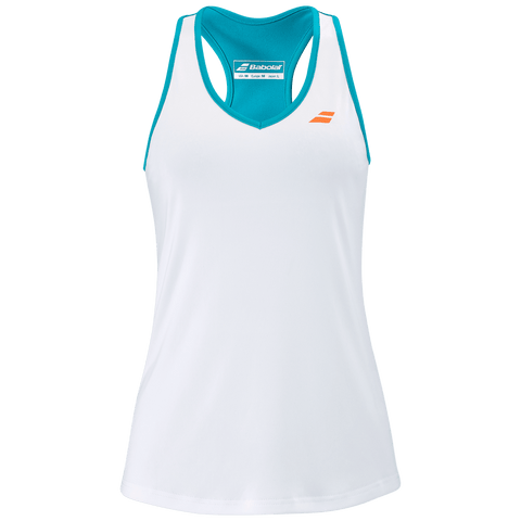 Top Babolat Play Tank Top Women White/ Caneel Bay