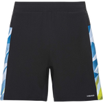Calções Head Medley Shorts BLACK/SKY BLUE