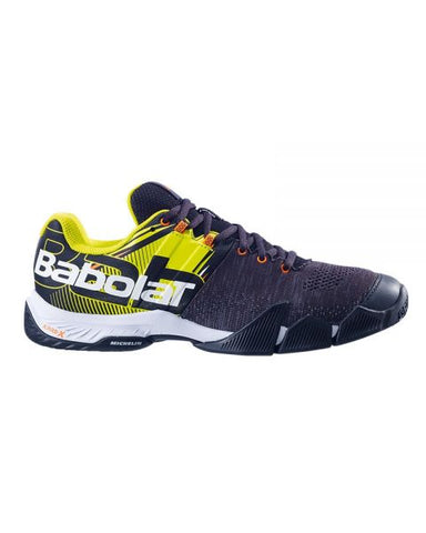 Sapatilhas de Padel Babolat Movea Men Black/ Fluo Yellow