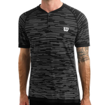 Polo Wilson M Competition Seamless Henley Black/White