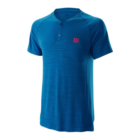 Polo Wilson M Competition Seamless Henley Imperial Blue