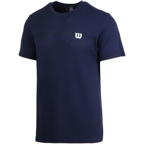 T-shirt Wilson M Competition Seamless Crew Peacoat
