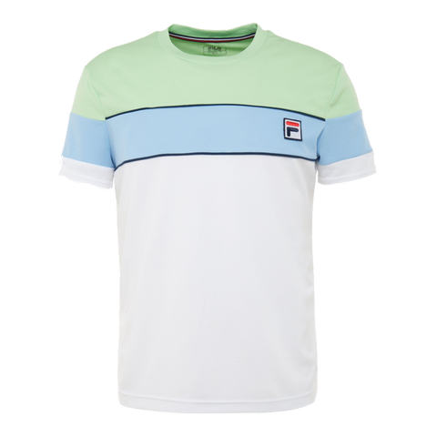 T-shirt Fila Lasse 021 White/ Pistachio Green/ Placid Blue