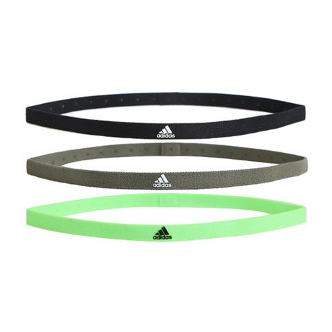 Banda Adidas 3PP Hairband Black/Grey/Green