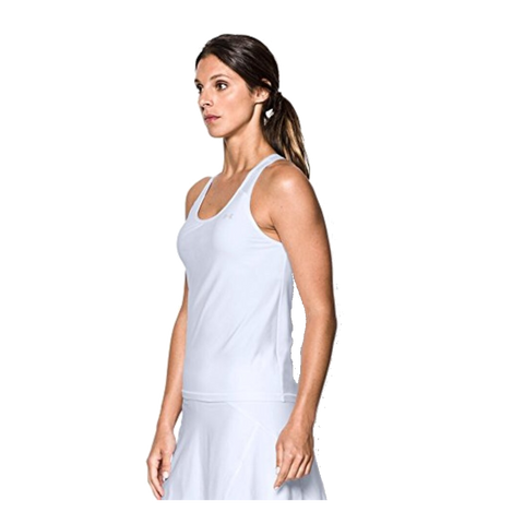 Top Under Armour Center Court Tank - White