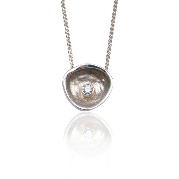 Confluence Single Large Cup Diamond Pendant