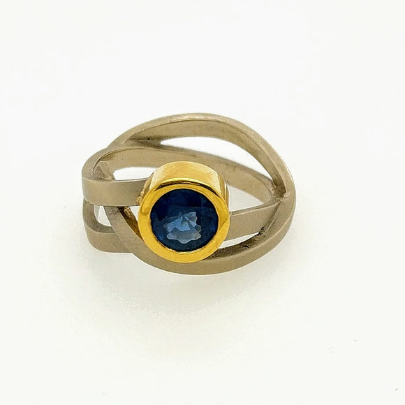 Wrapped Ring with Sapphire