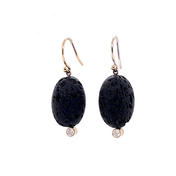 Black Lava Rock Earrings