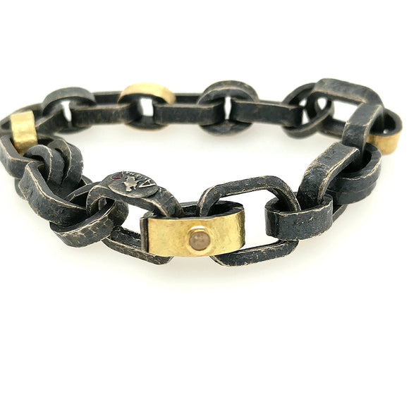 Sterling & Yellow Gold Bracelet