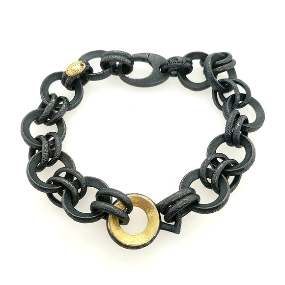 Sterling and Yellow Gold Bracelet