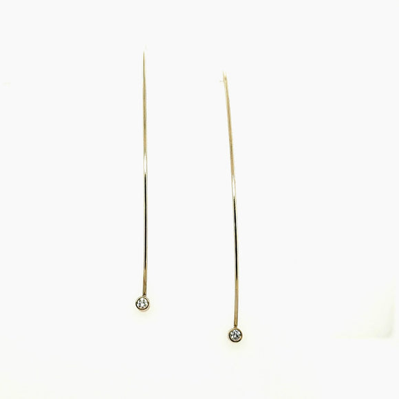 Diamond Wire Earrings