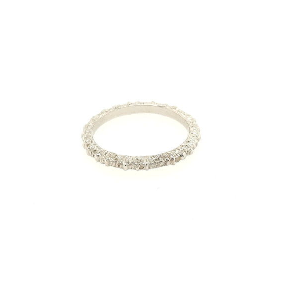 Aspen Stacking Band - White Gold