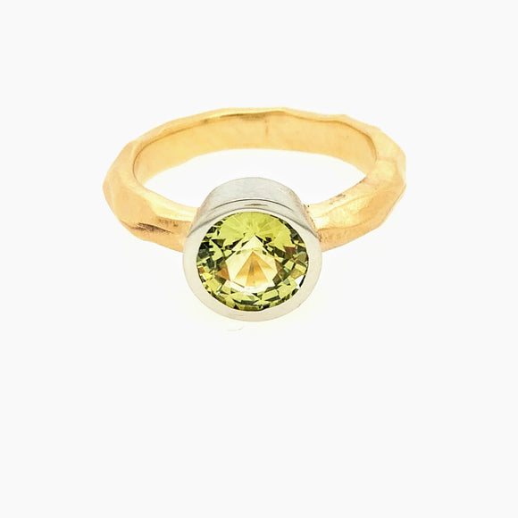 14K Gold Ring with Chrysoberyl