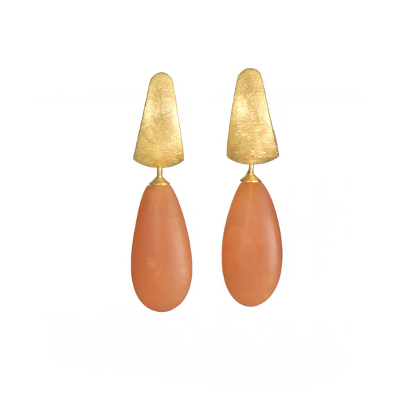 Carnelian Huggie Earrings