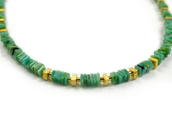 Platten Green Turquoise Necklace