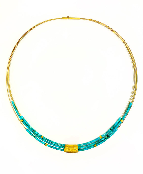 Orfini Blue Turquoise Necklace