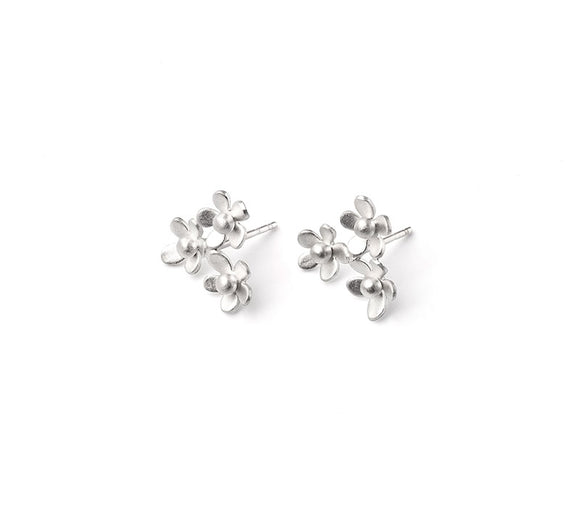 Forget Me Not Triple Cluster Earrings
