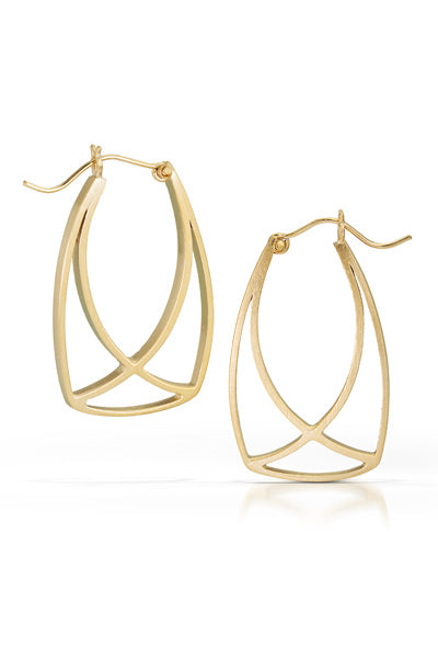 Vermeil Intersection Hoop Earrings