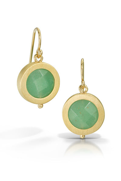 Circle Gem Earrings