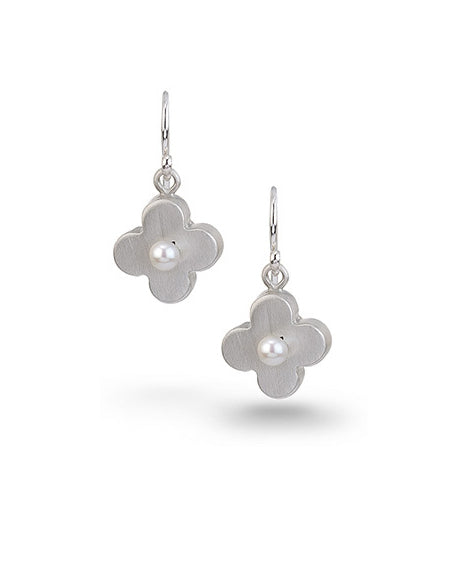 Circle Flower Pearl Earrings
