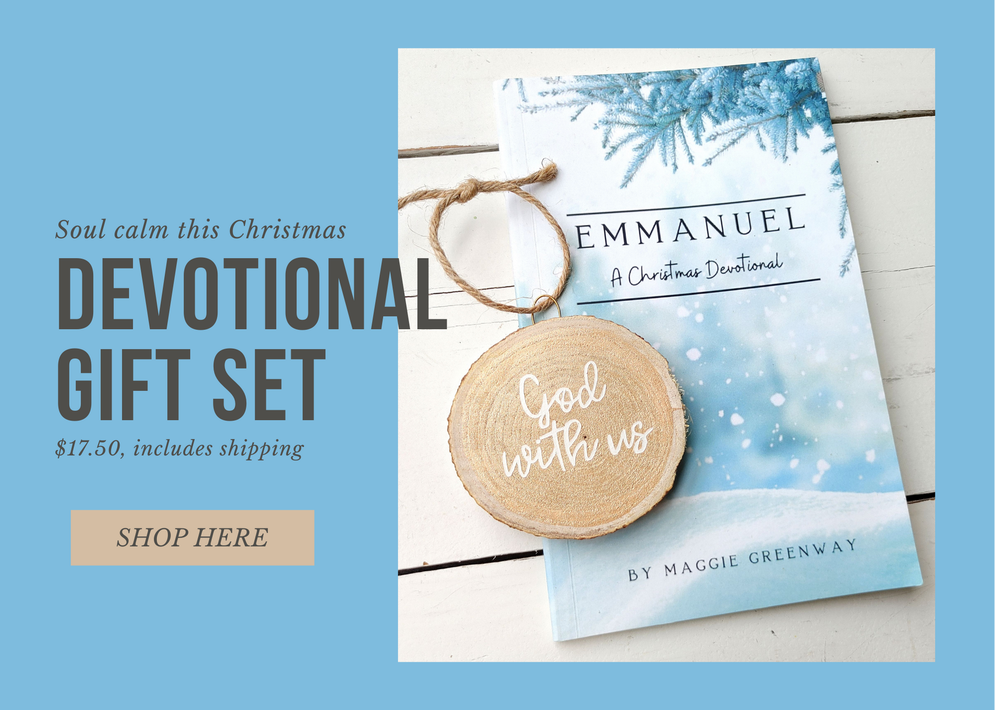 Emmanuel, Devotional Gift Set, She Pens Truth, Maggie Greenway