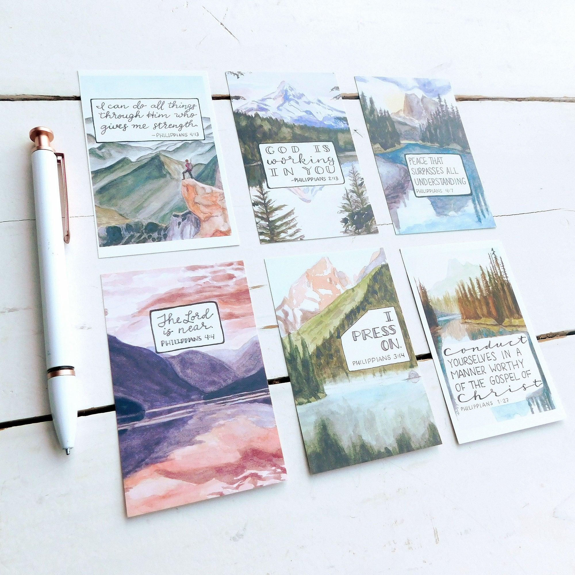 Cards, Philippians Mini Notes, Set of 12