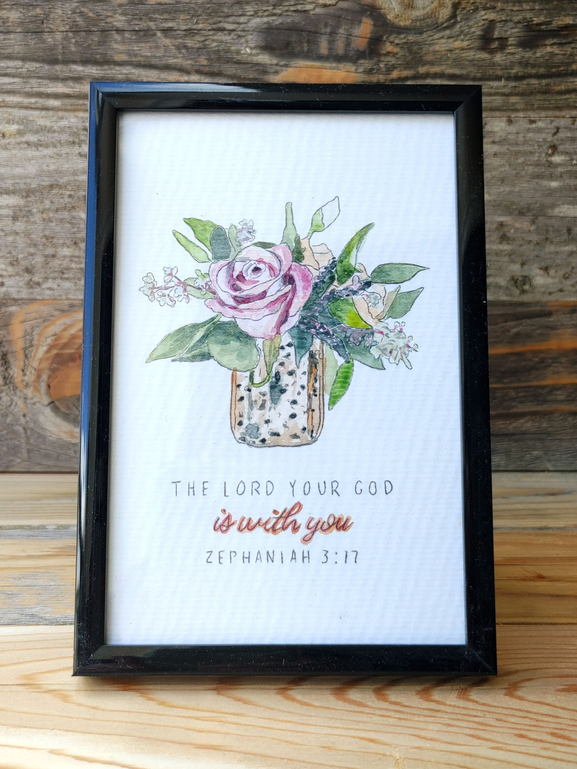 Original Watercolor: The Lord is with You