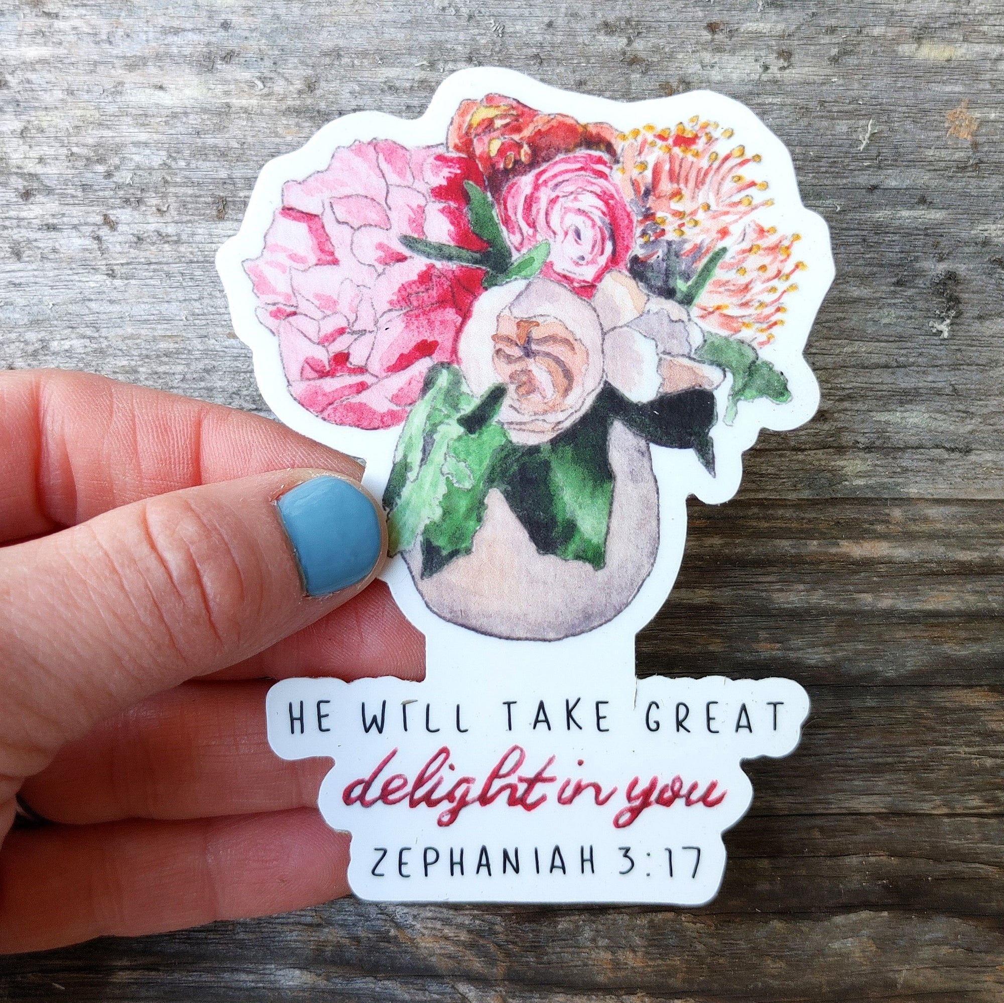 Sticker, Delight in You Bouquet