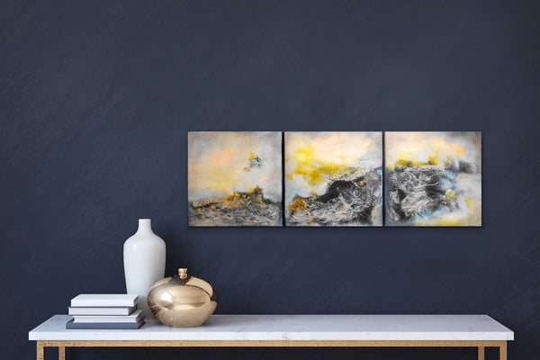 """Metamorphos"" 10 x 30"" Original Paintings"