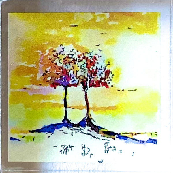 Sunset Trees Print Acrylic Block