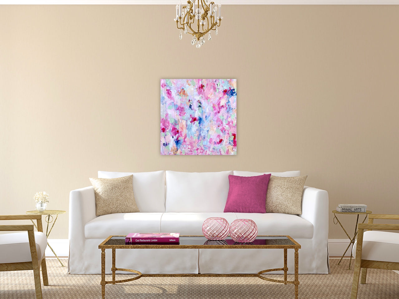 """Little Pink Number""  24 x 24"" Original Painting"