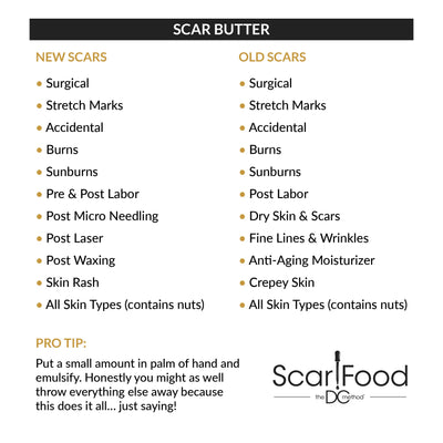 Scar Butter (Essential For Rapid Scar Repair)