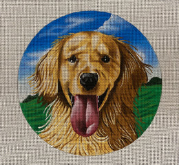 TTASP300 Golden Retreiver 2 Susan Roberts Needlepoint