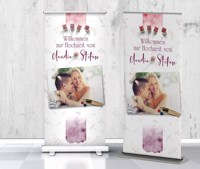 Ideenreiche Roll-Up-Banner