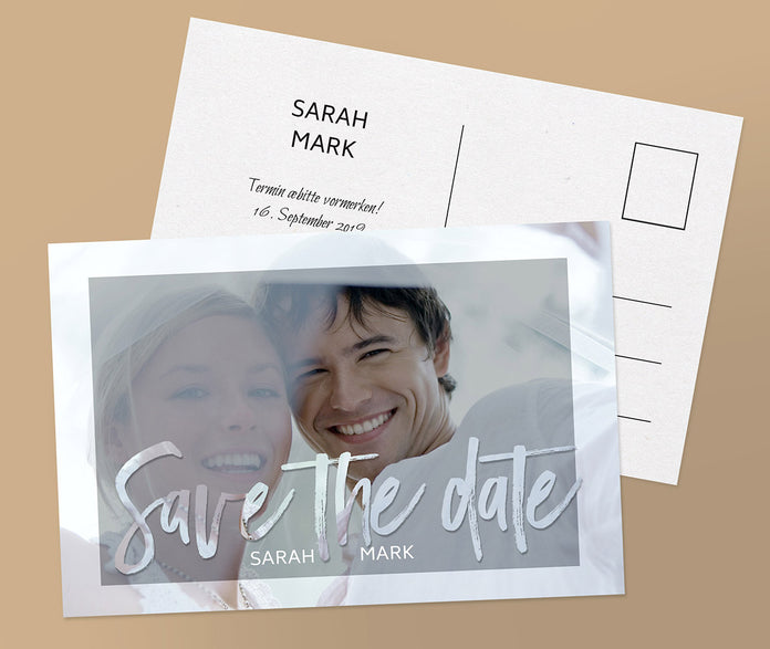 Save-The-Date Karte Selfie
