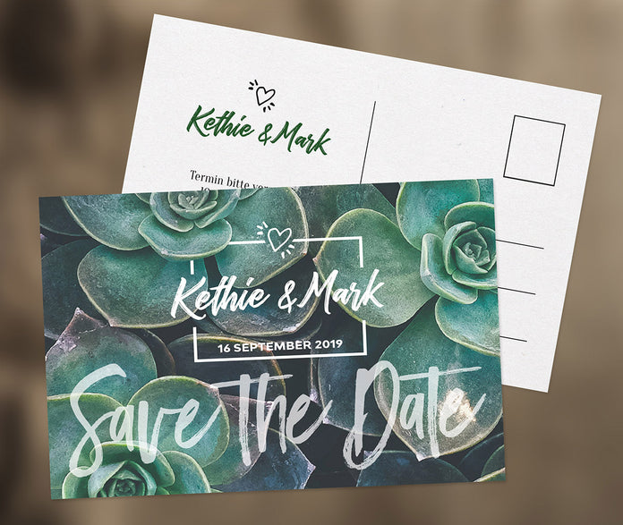 Geniale Save-The-Date Karte