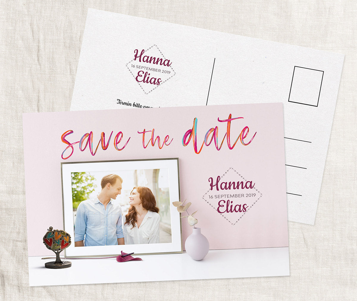 Ideenvolle Save-The-Date Karte