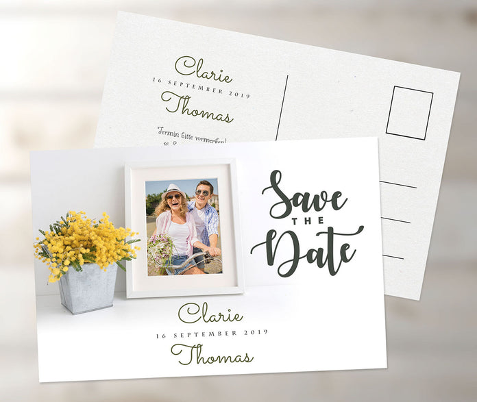 Romantische Save-The-Date Karte