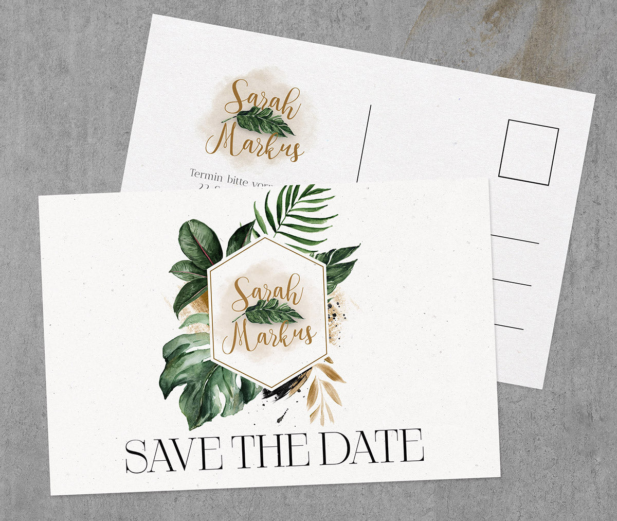 Aquarell Save-The-Date Karte