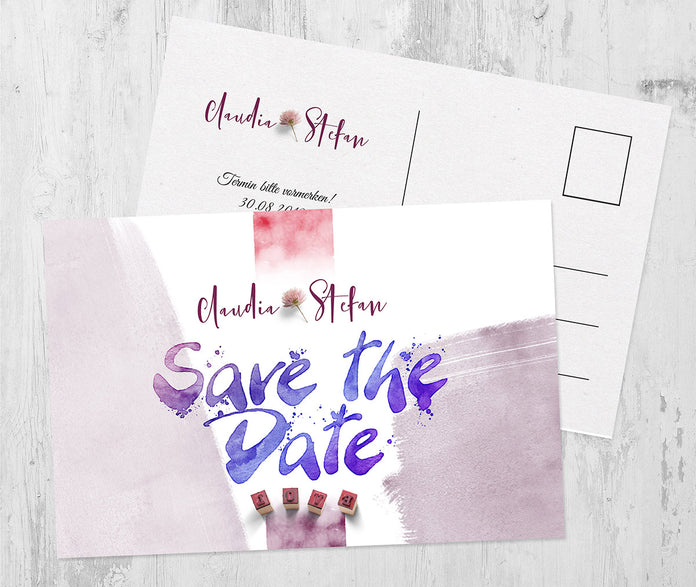 Ideenreiche Save-The-Date Karte