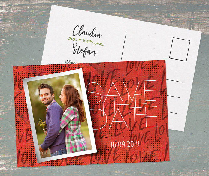 Trendy Save-The-Date Karte