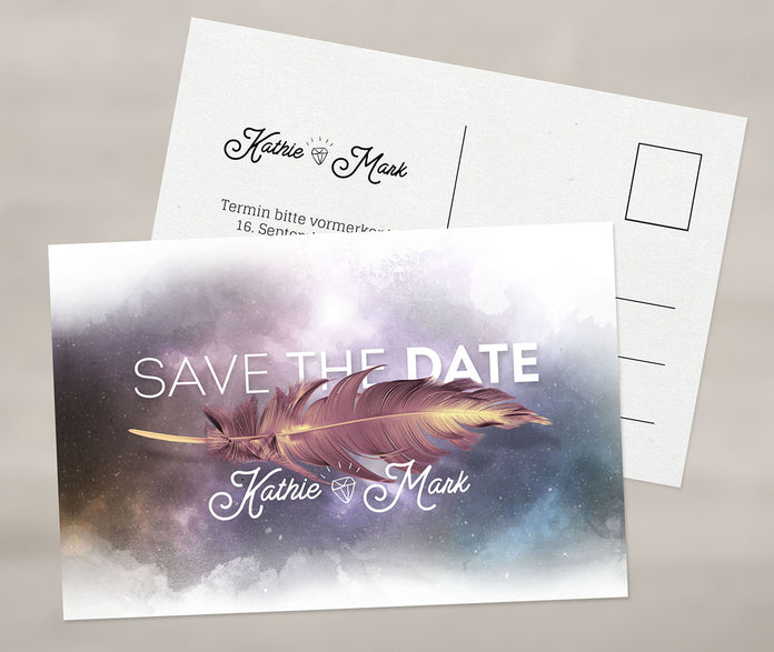 Ausgefallene Save-The-Date Karte